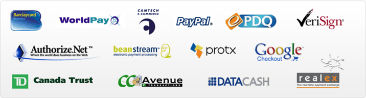 Various Payment Gateways